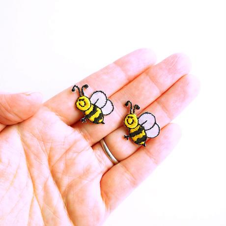 アイロンワッペン【ミツバチ2枚セット 蜂 Honeybee】アメリカ