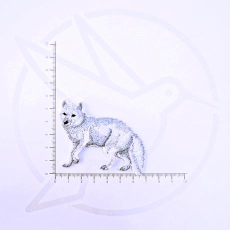アイロンワッペン【北極キツネ 狐】アメリカ