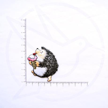 アイロンワッペン【ハリネズミ アイス】アメリカ
