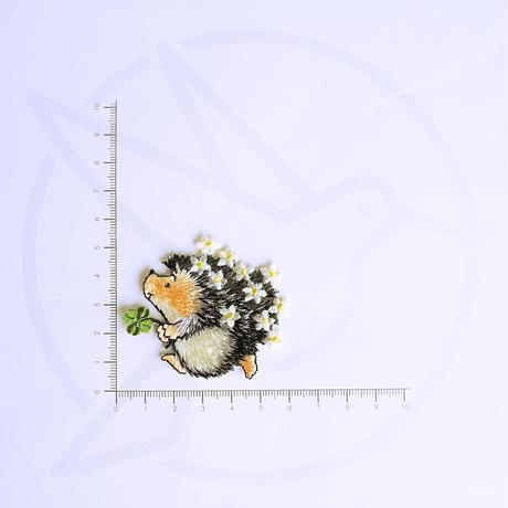 アイロンワッペン【ハリネズミ クローバー】アメリカ