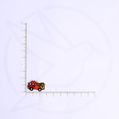 アイロンワッペン【ミニ 消防車 3枚セット】アメリカ