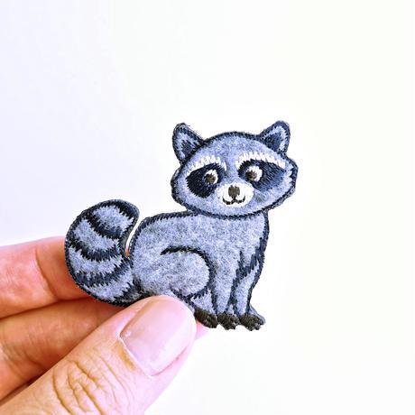 アイロンワッペン【アライグマ raccoon】オーストラリア
