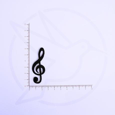 アイロンワッペン【ト音記号2枚セット musics】アメリカ