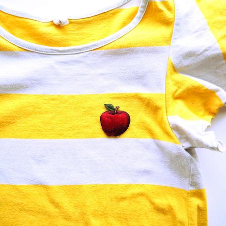 アイロンワッペン【りんご 林檎 Apple】アメリカ