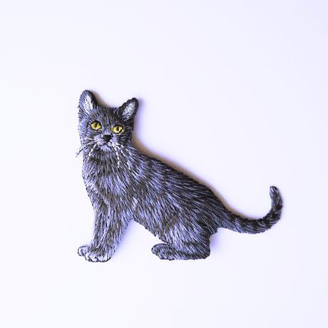 アイロンワッペン【黒猫 Cat】アメリカ