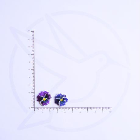 アイロンワッペン【パンジー 2枚セット】アメリカ