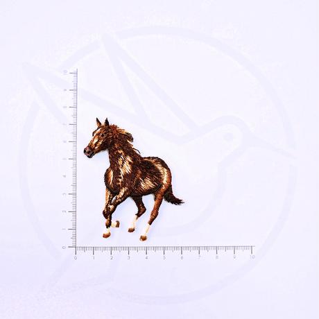 アイロンワッペン【馬 乗馬】アメリカ