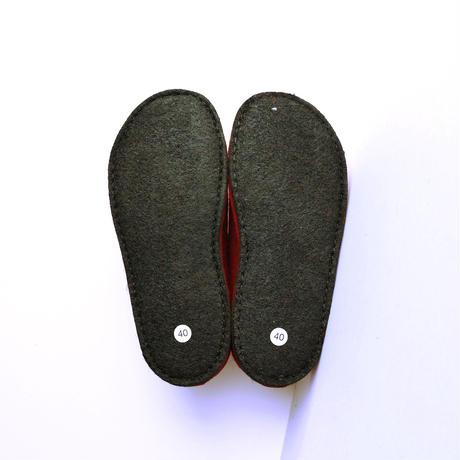 HAFLINGER甲薄幅細フェルトスリッパ  3110【レッド】