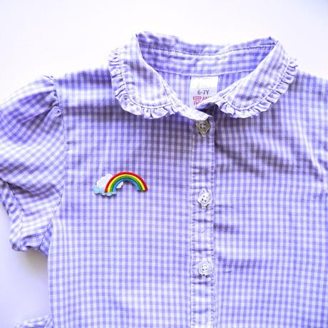 アイロンワッペン【虹 雲 Rainbow】アメリカ