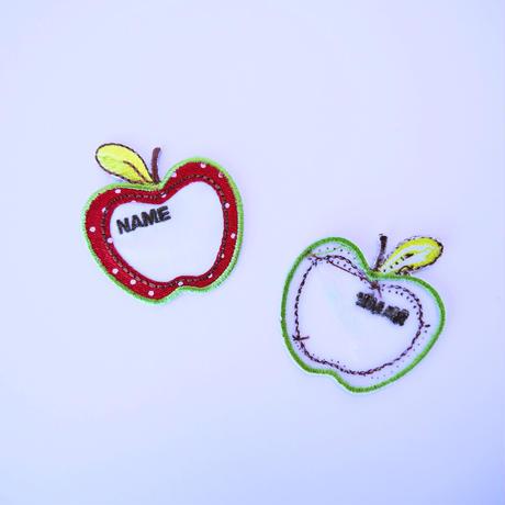 アイロンワッペン【りんご ネームタグ Apple】オーストラリア
