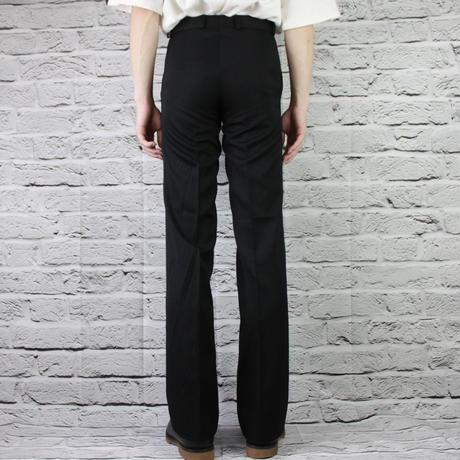 BLACK RETRO STRAIGHT PANTS