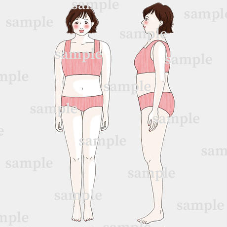 骨格診断 体型イラスト【ぽっちゃりさん】