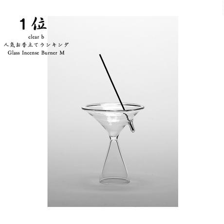 完売中のため予約購入受付中  ハンドクラフト Glass Incense Burner M インセンス ホルダー お香立て