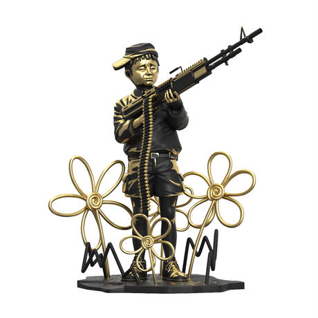 予約受付中 残り2個<PREORDER> Crayon Shooter by BANKSY BRANDALISED (LA Gold Edition) フィギュア バンクシー クレヨン シューター