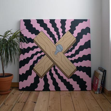 "𝖬𝗂𝗄𝗄𝗈 𝖧𝖾𝗂𝗇𝗈 from Berlin ""Untitled"" Original Painting Art 世界 限定 1枚"