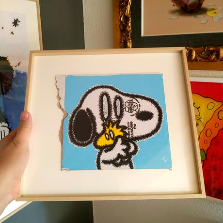 DOG AND BIRD by CELIPE PERROLOCO One of a Kind Art from CORRUPTED POP Collection 世界 限定 1枚