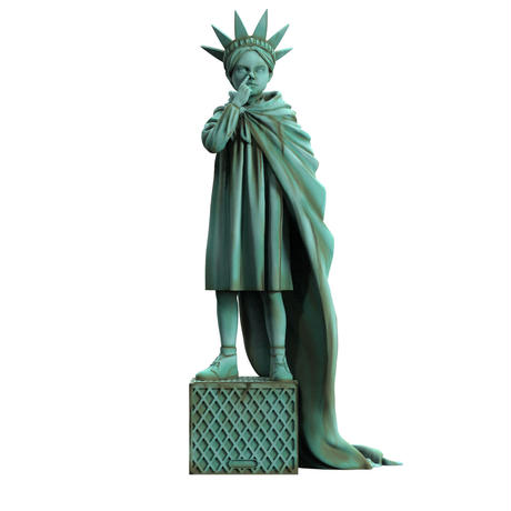 Liberty Girl Freedom Edition by BRANDALISED x Mighty Jaxx  Banksy フィギュア リバティーガール バンクシー