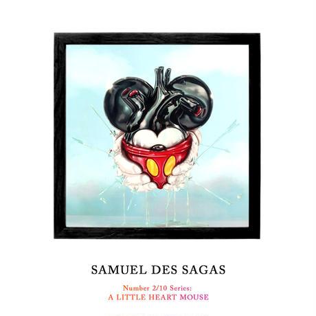 11時間 限定予約発売 Number 2/10 Series: A LITTLE HEART MOUSE by Samuel de Sagas 世界35枚限定