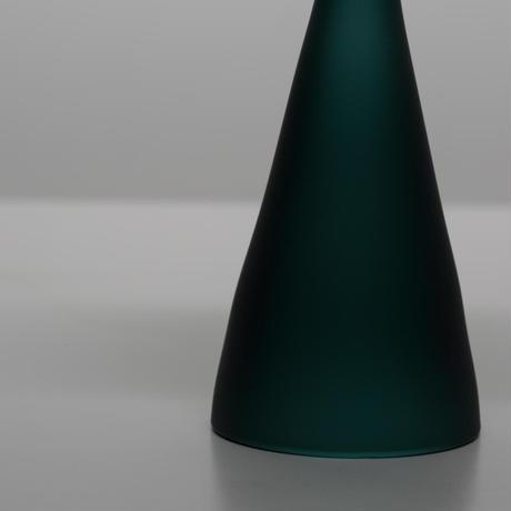 再入荷 ハンドクラフト Glass Incense Burner Frosted Teal Green インセンス ホルダー お香立て