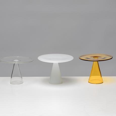 Glass Plate Yellow ガラス プレート お皿 お香立て お香