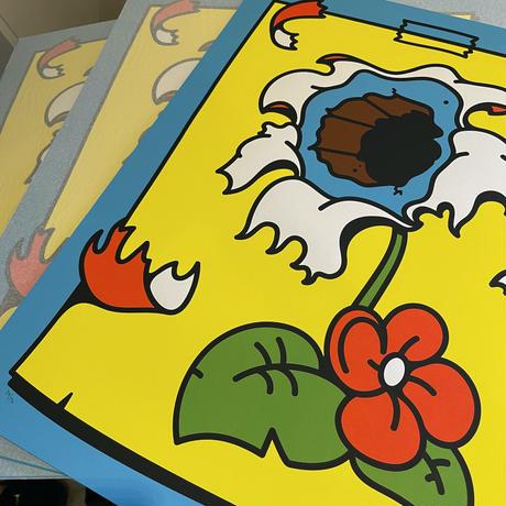 """""""𝖣𝖾𝖺𝖽 𝖥𝗅𝗈𝗐𝖾𝗋"""" 𝖻𝗒 𝖬𝗂𝗄𝗄𝗈 𝖧𝖾𝗂𝗇𝗈 アートプリント シルクスクリーン デジタルアート 絵画 絵"""