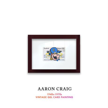 """1点物  Aaron Craig  Vintage QSL card pop mash painting """"Crunch n Punch"""""""