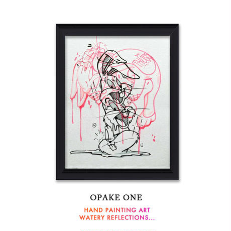 OPAKE ONE  -WATERY REFLECTIONS-  One of a Kind SKETCHES ART アート グラフィティ