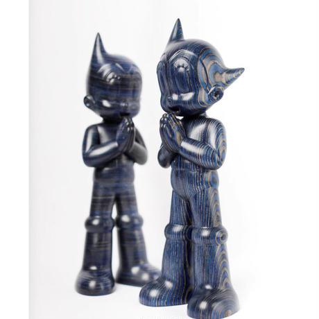 残り1pcs ASTRO BOY GREETING - BLUE WOODEN (VERTICAL VER.) インテリア フィギュア アートトイ