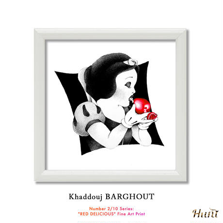 """Number 2/10 Series: """"RED DELICIOUS"""" Fine Art Print by KHADDOUJ BARGHOUT 世界 限定 33枚"""