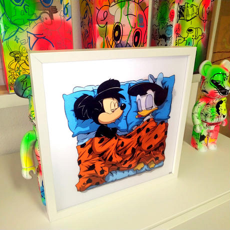 PRIMAL INSTICT Lenticular Print SleepingTogether Series by RX STRIP (Changing image) アートプリント