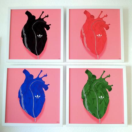 ADIDAS Heart fine art Print by Samuel de Sagas 各カラー30枚限定 シリアルナンバー入り