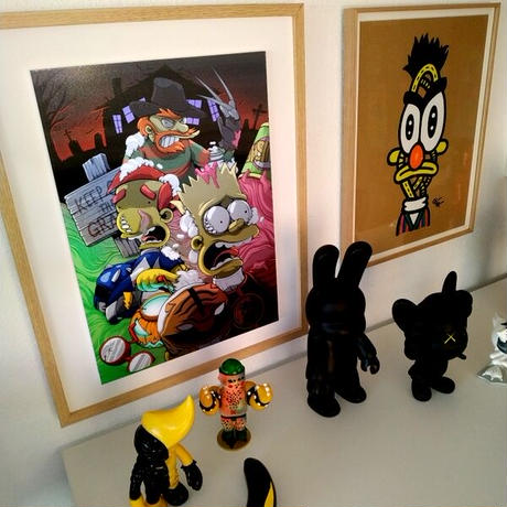 LENTICULAR Deconstructed TERROR with the SIMPSONS by DHANI BARRAGAN