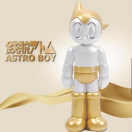再入荷 90周年記念 PVC ASTRO BOY 2P set CLOSED EYE (GOLD&SILVER) 鉄腕アトム フィギュア
