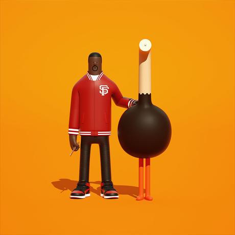 """2日間のみ予約可能 Superfiction  Creative design studio  """"Jackson"""" Art toy  アートトイ インテリア フィギュア"""