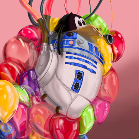 R2D2 Number 2/2021 from POPHEARTS STARWARS Series by Samuel de Sagas