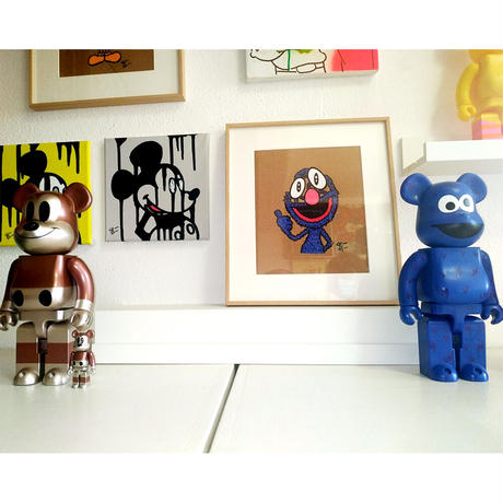 GROVER by CELIPE PERROLOCO - One of a Kind Art アートペイント 世界中で1点のみ