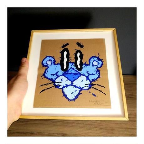 """BLUE"" by CELIPE PERROLOCO - One of a Kind Art アートペイント 世界で1点のみ"