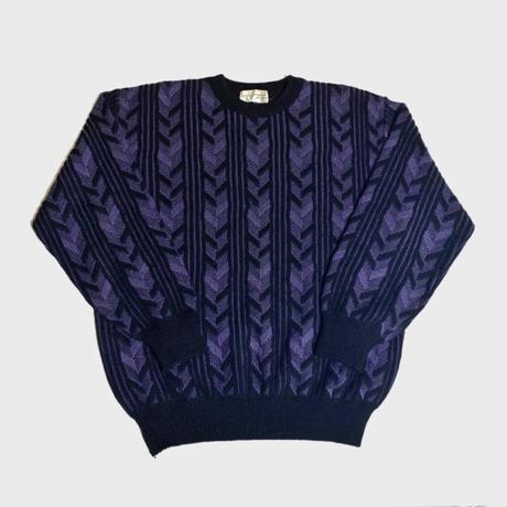 VINTAGE Stripe Knit Purple