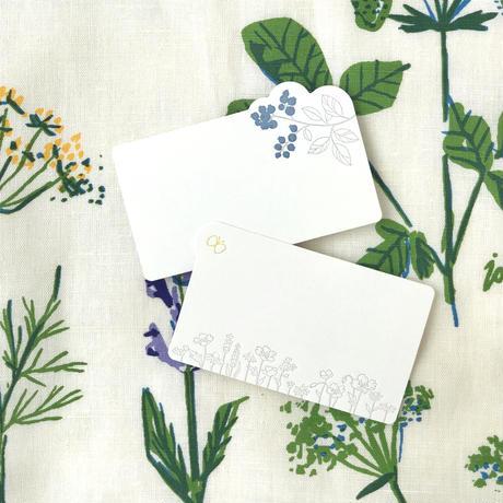 活版印刷のミニメッセージカード(ダイカット)