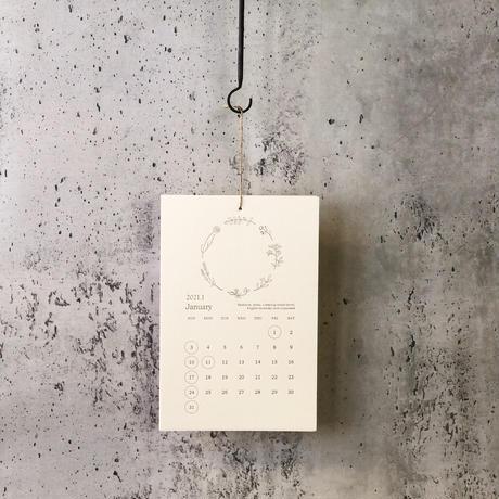 2021'レタープレスカレンダー