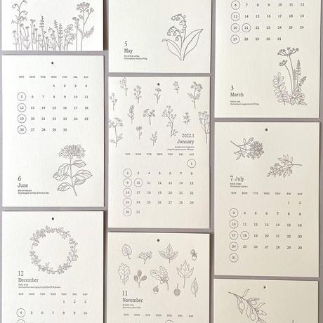 2022'レタープレスカレンダー