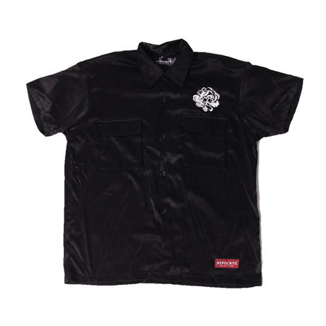 SKYK SS SILKYPOLY SHIRTS (BLK)