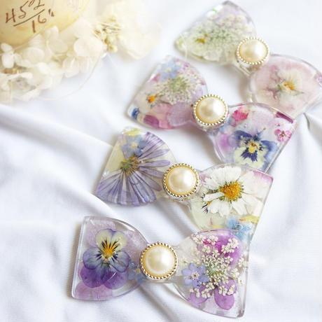 girly flowerリボン【ヘアアクセサリー】