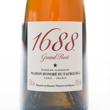 ノンアルコールシャンパン「1688 Grand Rose・Grand Blanc 200ml」ペアセット(箱入り)