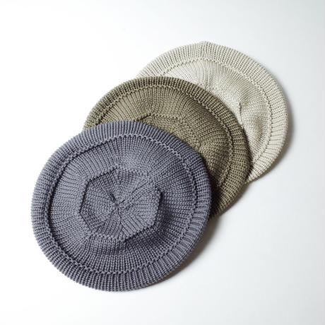 """RACAL """"Knit Tam Beret"""" / ラカル""""ニットタムベレー"""" (グレー)"""