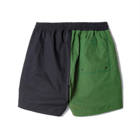 "SANDINISTA "" Home 2-Tone Twill Stretch Shorts""(ブラック×グリーン)"
