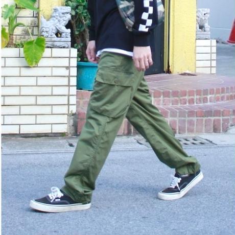 "Sandinista ""Linen Easy Fit Cargo Pants"" /サンディニスタ""リネンイージーフィットカーゴパンツ""(オリーブ)"