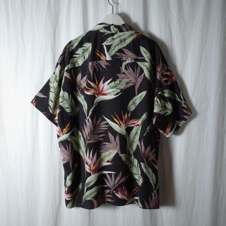 """SANDINISTA """"Aloha Shirt"""" / サンディニスタ """"アロハシャツ"""" (ブラック)"""