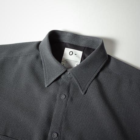 "O- ""ELBOW SLEEVE SHIRT""  / オー ""エルボースリーブシャツ"" (ブルーグレー)"