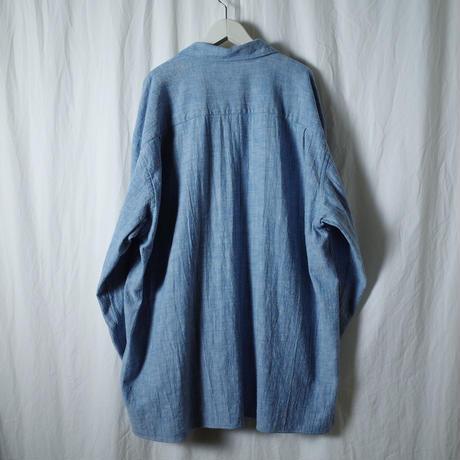 """■お問い合わせ商品■ Marvine Pontiak Shirt Makers """"Open Collar SH"""" (ブルーカルゼ)"""